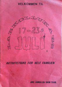 Programblad 1988